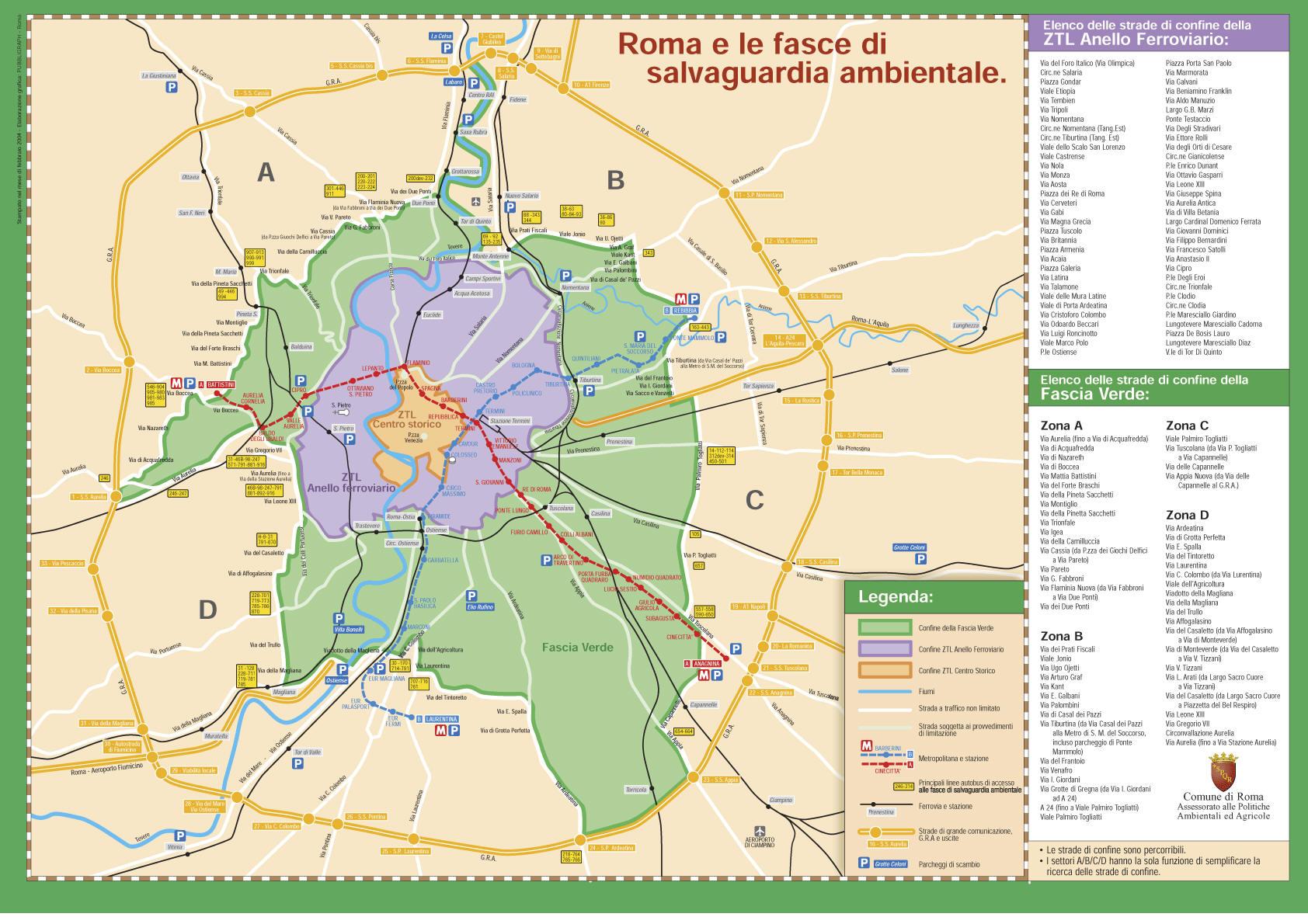 Roma, blocco auto 22 febbraio 2015: orari zona verde