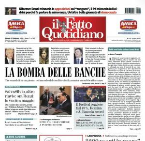 """Marco Travaglio sul Fatto Quotidiano: """"Fatti non foste a viver come Bruti"""""""