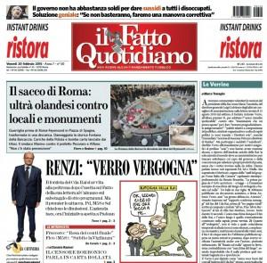 """Marco Travaglio sul Fatto Quotidiano: """"Le Verrine"""""""