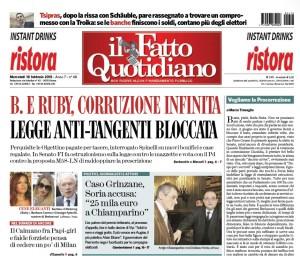 """Marco Travaglio sul Fatto Quotidiano: """"Vogliamo la Procorruzione"""""""