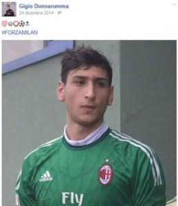 Gianluigi Donnarumma, a 15 anni in Serie A con il Milan