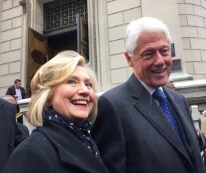 Hillar Clinton col marito Bill