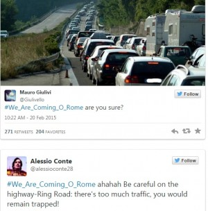 """Isis minaccia Roma, romani su Twitter: """"Sicuri? C'è traffico, domani sciopero"""""""