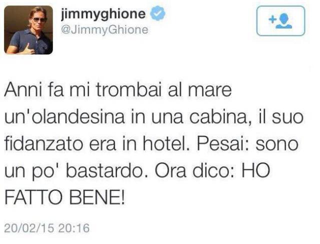 Jimmy Ghione su Twitter