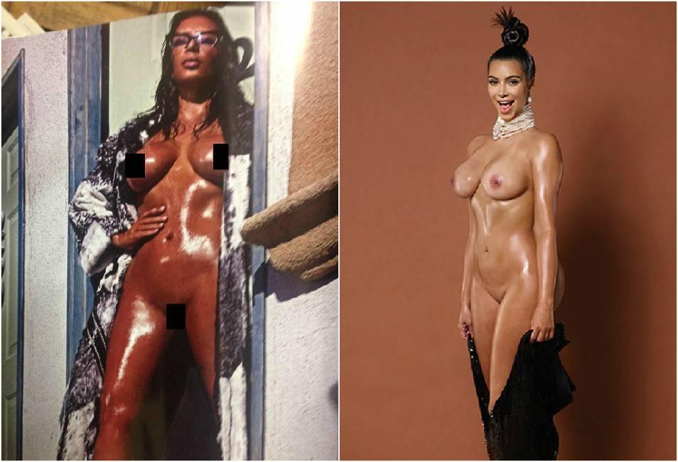 Kim Kardashian nuda (di nuovo) sulla copertina di Love Magazine