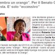 """""""Kyenge sembra un orango"""". Per il Senato Calderoli non è razzista. E' solo """"eccessivo"""""""