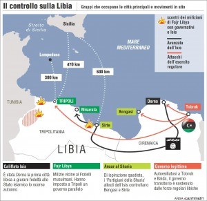 """Libia chiede stop embargo armi. Italia """"pronta a ruolo guida nella missione Onu"""""""