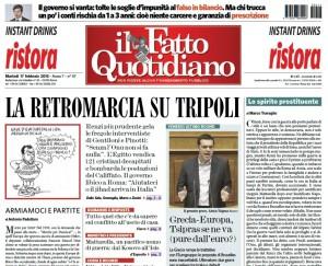 """Marco Travaglio sul Fatto Quotidiano: """"Lo spirito prostituente"""""""