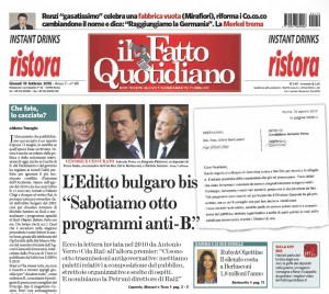 """Marco Travaglio sul Fatto Quotidiano: """"Che fate, lo cacciate?"""""""