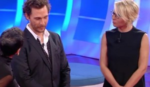 Matthew McConaughey a C'è posta per te: la sorpresa a Fabiola