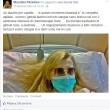 Maurizia Paradiso ha leucemia. Foto ospedale su Fb