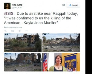 "Kayla Jean Mueller, ostaggio Usa morta in Siria. Isis: ""Uccisa da raid giordani"""