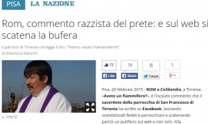 """Don Marcello su Facebook: """"Rom a Tirrenia, avete un fiammifero?"""""""