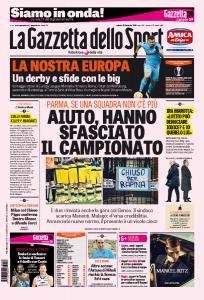 """Parma, La Gazzetta dello Sport: """"Hanno sfasciato il campionato"""""""