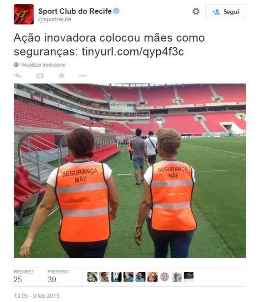 Recife, mamme degli ultrà steward anti-violenza nel derby: l'idea funziona