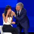 Sanremo 2015, Rocio Munoz Morales piange anche da Giletti