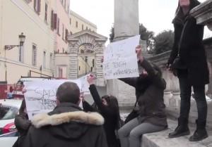 """Matteo Salvini al Campidoglio: """"Via Marino da Roma"""". Sel lo contesta"""