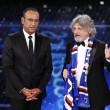 VIDEO YouTube - Sanremo 2015, Massimo Ferrero canta Vita Spericolata 05