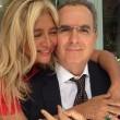 Lamberto Sposini in una foto recente con Mara Venier