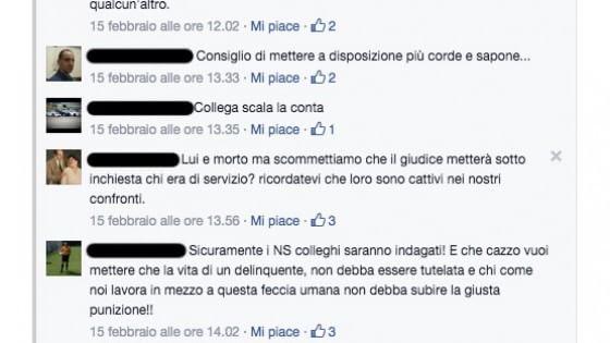 """Romeno si uccide in carcere, alcuni agenti su Facebook: """"Uno di meno"""""""