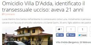 Luna, trans ucciso a Villa D'Adda: in carcere Daniel Savini