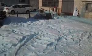 misteriosa neve blu sugli Urali