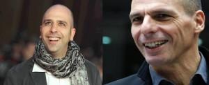 Yanis Varoufakis-Checco Zalone: separati alla nascita FOTO (foto Lapresse)