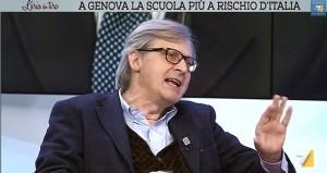 """Video Youtube, Vittorio Sgarbi a Gianni Barbacetto: """"stronzaggine deprimente"""""""