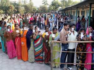 Elettori a Delhi