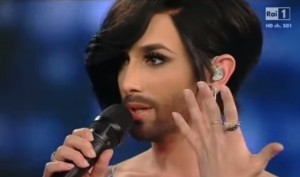 VIDEO YouTube - Conchita Wurst, la barba e l'intervista di Carlo Conti a Sanremo