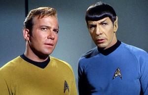 William Shatner e Leonard Nimoy interpretano il capitano Kirk e Spock
