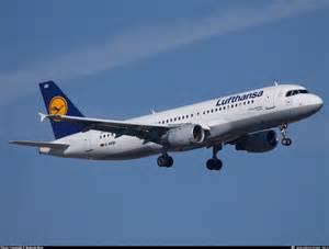 Un Airbus A320della Lufthansa