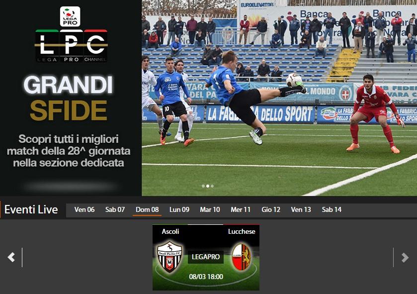 Ascoli lucchese diretta streaming sportube blitz quotidiano for Diretta streaming parlamento