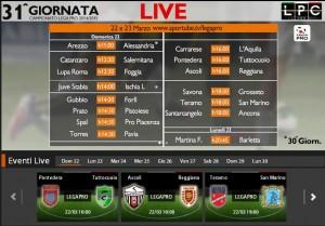 Ascoli-Reggiana: diretta streaming Sportube. Info, link e formazioni