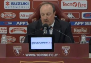 """Torino-Napoli, Benitez risponde a Massimo Mauro: """"Può solo parlare in tv"""" VIDEO"""