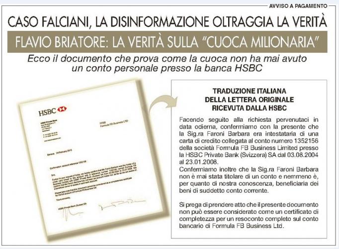 """Flavio Briatore compra pagine sui quotidiani: """"Ecco verità su cuoca milionaria"""""""
