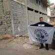 """Buonanno in Libia, FOTO a sua insaputa con la scritta: """"Qui no immondizia"""" 05"""