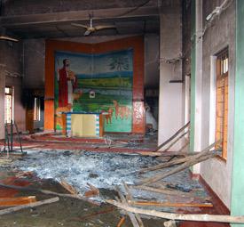 Chiesa devastata in India