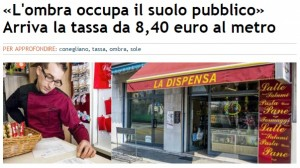 """Conegliano, mette tenda sulla vetrina del negozio: 34 euro di """"tassa sull'ombra"""""""