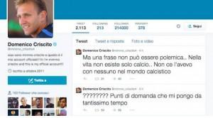 """Domenico Criscito, tweet contro mancata convocazione Conte? Lui: """"Macché..."""""""