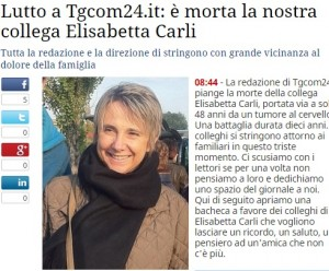 Elisabetta Carli, morta giornalista TgCom: il cordoglio della redazione