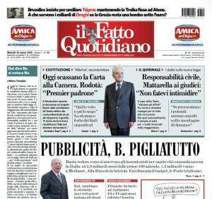 """Marco Travaglio sul Fatto Quotidiano: """"Dal dire No al votare No"""""""