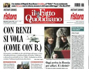 """Marco Travaglio sul Fatto Quotidiano: """"Volete Barabba o Barabba?"""""""