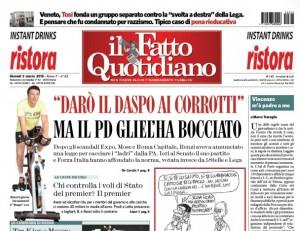 """Marco Travaglio sul Fatto Quotidiano: """"Vincenzo m'è padre a me"""""""