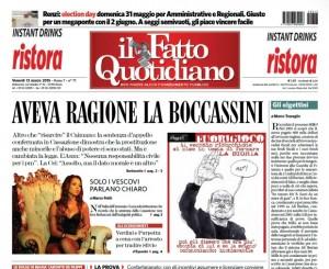"""Marco Travaglio sul Fatto Quotidiano: """"Gli olgettini"""""""