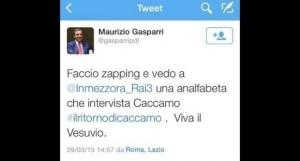 """Maurizio Gasparri: """"Lucia Annunziata analfabeta intervista Cantone"""""""