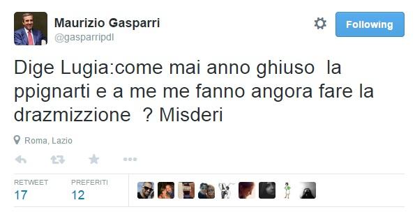 Maurizio Gasparri imita Lucia Annunziata su Twitter FOTO. Calabrese per iscritto