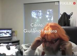 """Giuliano Ferrara canta """"Ilda (Boccassini) la rossa"""" VIDEO"""