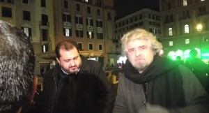 "gennaio 2013, Beppe Grillo ""sgrida"" Paola Taverna"