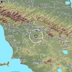Terremoto Chianti, scossa di magnitudo 3